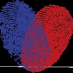 Herz-Fingerabdrücke